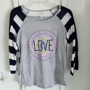 Love baseball style shirt